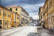street of Italian old town Livorno