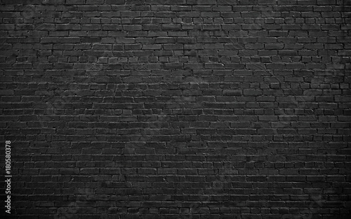 Photo sur Toile Brick wall black brick wall, brickwork background for design