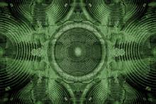 Green Grunge Audio Speakers