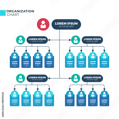Business Structure Of Organization Vector Organizational Structural