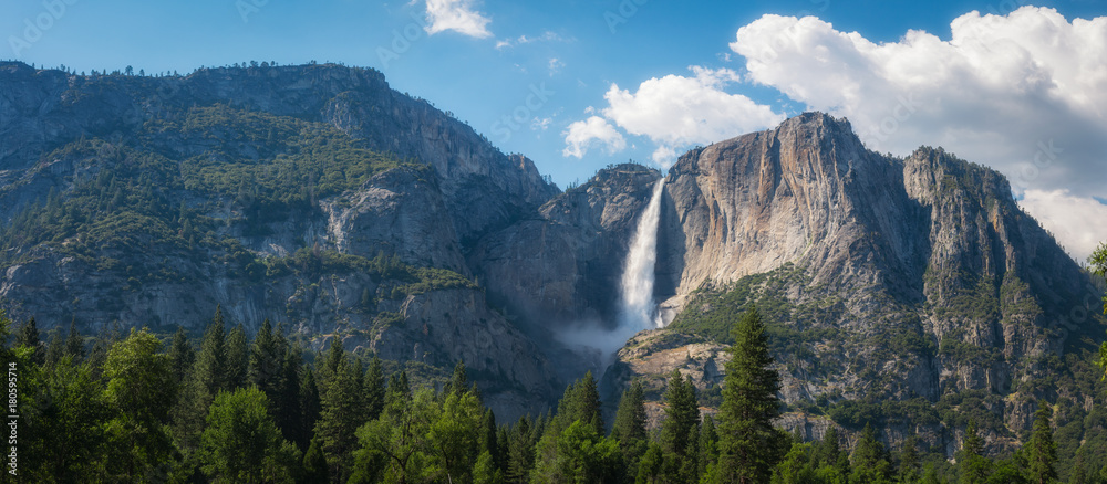 Upper Falls Panorama in Yosemite National Park