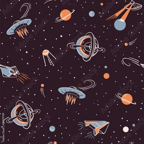przestrzen-wektor-wzor-kosmiczny-projekt-tkaniny-z-rakietami-planetami-gwiazdami-i-satelitami