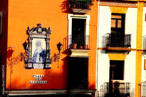 Obraz Triana, barrio de Sevilla, capital de Andalucia ( España) - fototapety do salonu
