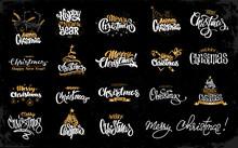 Merry Christmas Lettering Desi...
