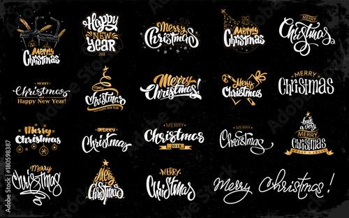 Fotografía  Merry Christmas Lettering Design Set