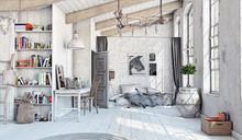 Scandinavian  Bedroom Interior