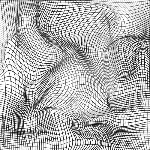 Fotografija  Distorted wave monochrome texture