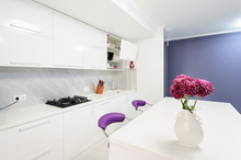 Modern Kitchen With Dining Tab...