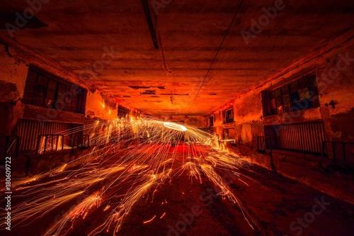 Canvas Prints Narrow alley sparks