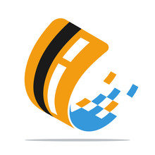 Icon Logo / Illustrations For Digital Business, Virtual Credit Card Services