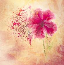 Fondo De Flor Con Textura