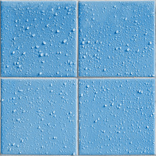 Blue Colored Shower / Bath Tiles With Water Drops, Repeatable Background Pattern