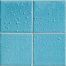 Light Blue Colored Shower / Bath Tiles With Water Drops, Repeatable Background Pattern