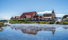 Church And Steam In Rotorua, New Zealand