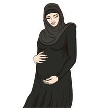 Arabic Muslim Pregnant Woman I...