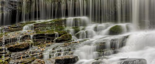 Recess Fitting Waterfalls Wide format panorama of waterfall
