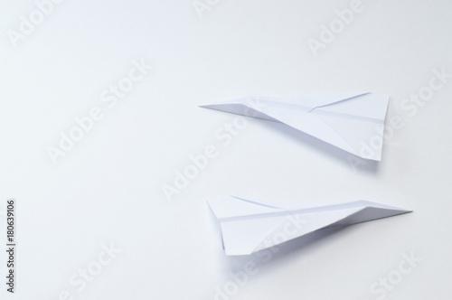Obraz na plátně  origami planes on white background