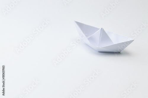 Fototapeta origami ship on white background.origami ship on white background