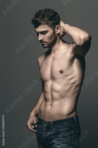 Cadres-photo bureau Akt sexy young man