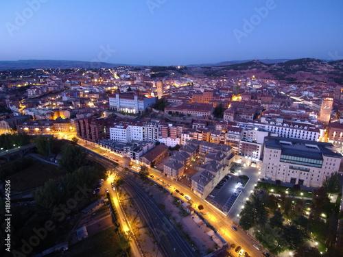 Teruel ( Aragón) desde el aire. Fotografia aérea