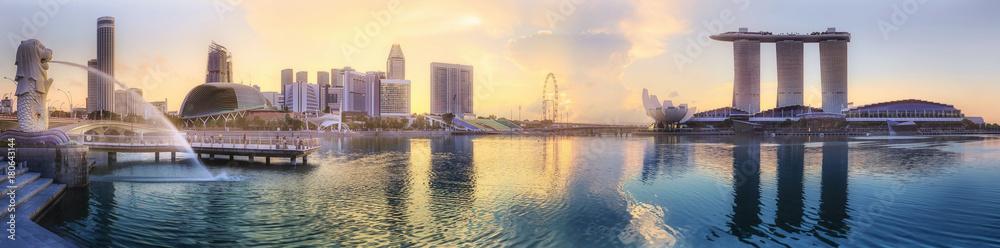 Fototapety, obrazy: Singapore skyline background