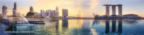 Canvas Print Singapore skyline background