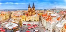 Prague In Christmas Time. Wint...