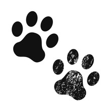 Dog Paw Print. Vector Icon.