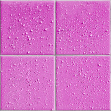 Pink Colored Shower / Bath Tiles With Water Drops, Repeatable Background Pattern