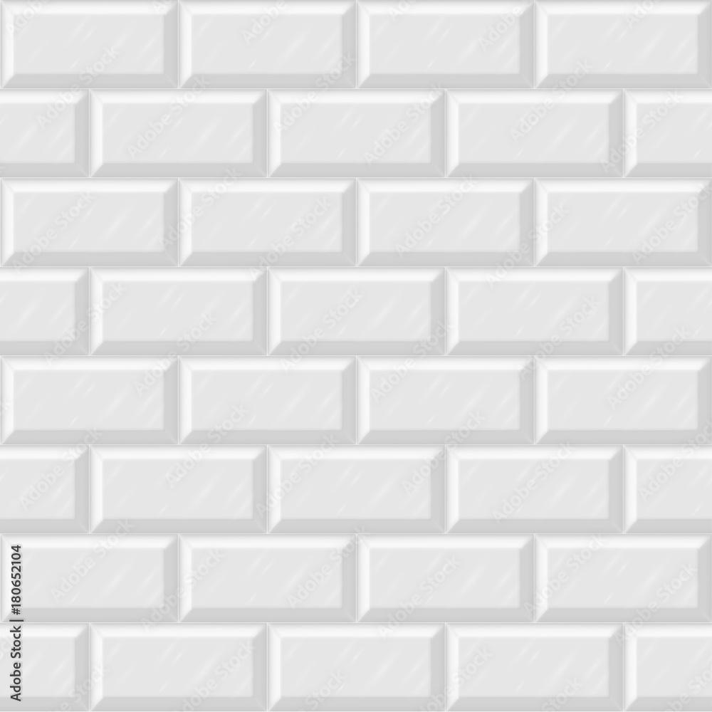 Białe płytki ceramiczne bezszwowe tło wektor, lakoniczny wzór skandynawski. Minimalistyczne wnętrze projektu tło. <span>plik: #180652104   autor: Manon Labe</span>