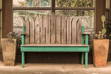 Bench Outside Storefront