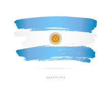 Flag Of Argentina. Abstract Concept