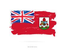 Flag Of Bermuda Skeletons. Con...