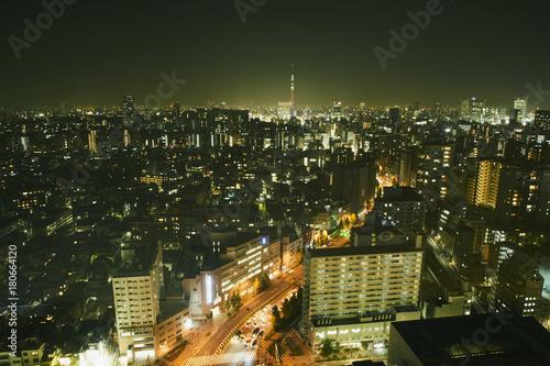 Obraz na dibondzie (fotoboard) Tokio nocny widok