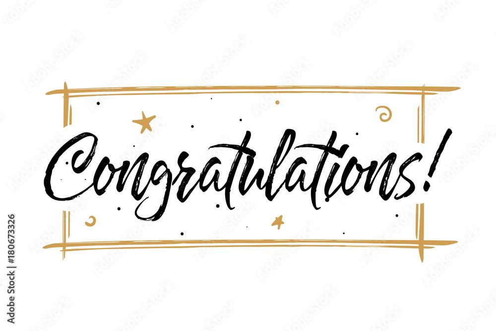 Valokuva  Congrats, Congratulations card