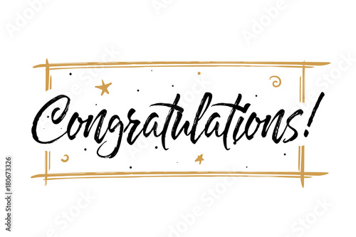 Congrats, Congratulations card Canvas Print