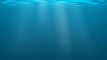 Vector Underwater Background, Deep Sea