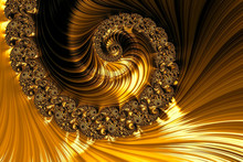 Fractal Spiral - Abstract Digitally Generated Image