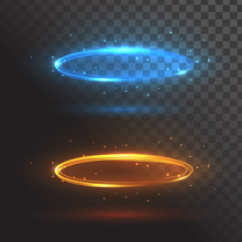 Blue And Orange Rings Of Fire