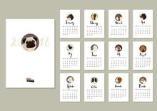 Calendar With Twelve Different...