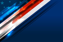 Flag Of USA Background For Ind...
