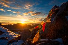 Flags Of Tibetan Prayers In Th...