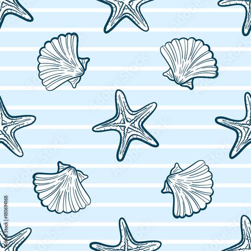 seashells-i-starfishes-seamless-pattern