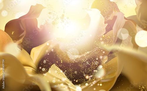 Fotografie, Obraz  Shining golden color background