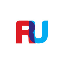 Initial Letter RU, Overlapping...