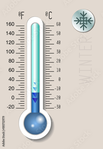 celsius and fahrenheit meteorology thermometer measuring heat and
