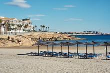 Empty Beach Of Cabo Roig In Au...