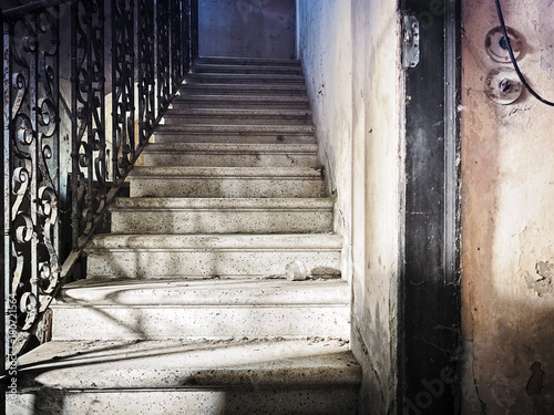 Staande foto Trappen Scale villa Dell'allenatore