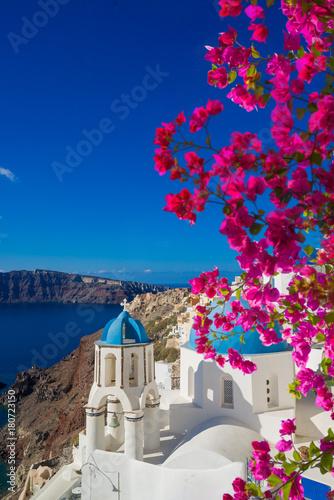 Fototapeta View on Oia in Santorini obraz