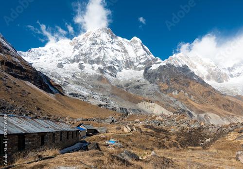 Himalayan Mountain Range and Annapurna Mountain Wallpaper Mural